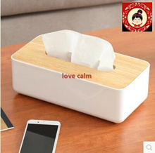 Tissue Box Creative napkin box pumping pumping cassette car living room wooden lid 63953