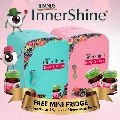 [Exclusive Bundle FREE Mini Fridge worth $99] BRANDS Innershine Berry Essence Deals for only S$502.5 instead of S$0
