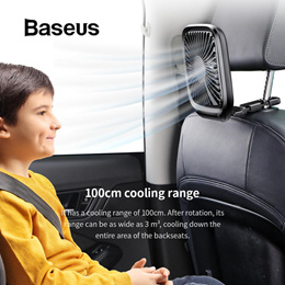 Baseus Car Accessories Portable USB Cable Fan Foldable Backseat Aircon Baby Kids