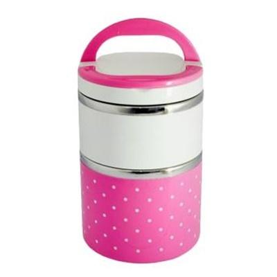 Lunch Box Polkadot 2 Susun Pink