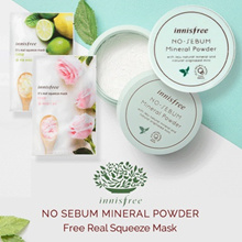Innisfree - No Sebum Mineral Powder 5Gr Free  MY REAL SQUEEZE MASK