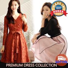 [Chicline] 2018 New arrival S~XL size LUXURY OFFICE DRESS From Korea /High quality/ Free Shipping