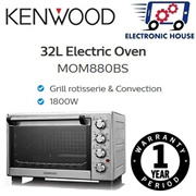 ★ Kenwood MOM880BS 32L Convection + Rotisserie Electric Oven ★ (1 Year Singapore Warranty)