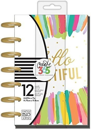 me & my BIG ideas Create 365 The Mini Happy Planner?? Super Fun Hello  Beautiful?? 12 Month Planner??