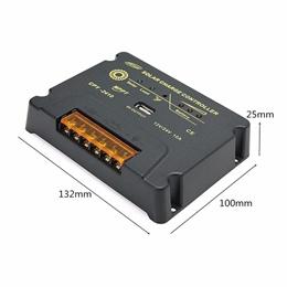 10A 12V/24V MPPT Solar Panel Battery Regulator Solar Charge Controller Short Circuit Protection Auto