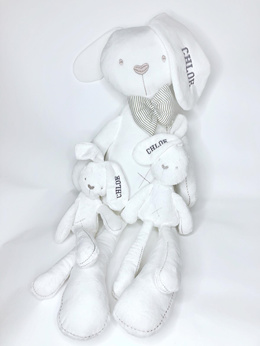 ♥Free Baby Bunny★Free Personalized Name Embroidery♥Big Millie Soft Toy Rabbit♥Christmas Gift♥