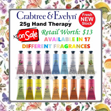✿[CRAZY SALE 48% OFF]✿ 17 Different Fragrances Available ✿  Crabtree and Evelyn Hand Therapy Cream 25g (Retail Worth: $13)  ✿#1 Best Selling Luxurious Hand Cream✿