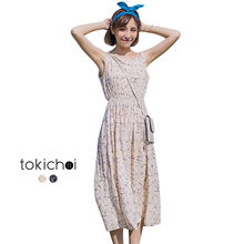 TOKICHOI - Floral Round Neck Maxi Dress-180456