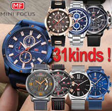[Mini Focus] EVENT★31STYLE★The best mens mesh leather metal wrist watch/sports chronograp