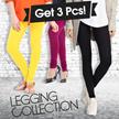 GET 3pcs Celana Legging Panjang Aneka Warna / Ukuran All Size Dan Jumbo/Harga Grosir / Best Seller