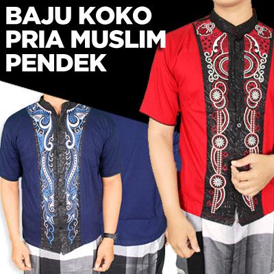 Qoo10 Free Shipping Baju Koko Pria Muslim Pendek