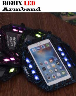 Romix Sports Waist Pouch LED Armband Mask