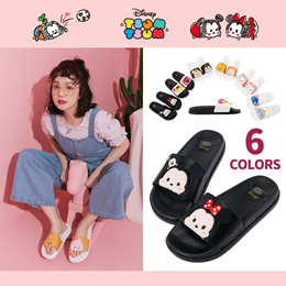 Gracegift-Disney Tsum Tsum texture casual slip-on/Women/Ladies/Girl Shoes/Taiwan Fashion
