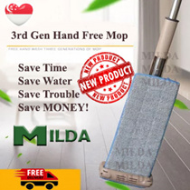[12.12 Sales] NEW 3rd Gen Hands Free Mop ♥ Easy to use ♥ Save Time ♥ Save Trouble ♥ Local Seller