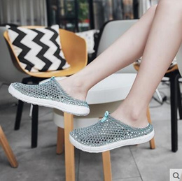store 2018 Summer Brand New Funny Breathable Bird Nest Shaped Flat Slippers for Fashion Young Ladies