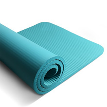 【Purchase with Coupon】Yoga Mat Fitness Gym Exercise Plain Colour Thin Anti Slip - NBR Rubber 10mm
