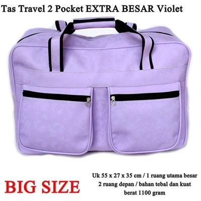 Tas Travel 2 Pocket EXTRA Besar
