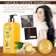 Ginger shampoo ◆ Anti hairloss◆ oily scalp◆ hairfall control◆ Best scalp shampoo ◆ 800ml