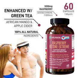 Raspberry Ketone 🔥Max Weight Loss + African Mango+Green Tea+ Apple Cider 🔥Lean Muscles Fat Burner