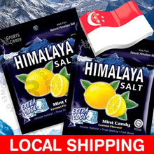 LOCAL SHIPPING ★ Himalaya Salt Mint Candy Extra Cool Lemon Flavour 1 Box / 12 Packets