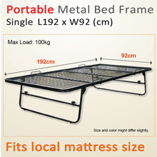 Pull-out Metal Bed Frame | Single | Pull-out n Lift up | With Mattress Buy Option Available