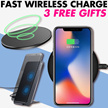 [3 free gifts]Wireless charger output 9w QI Fast Safe for Apple Samsung IPhoneX IPhone8 7 6 Note8 S8