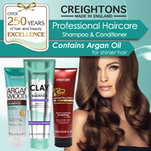SPECIAL SALES! [From UK] CREIGHTONS KERATIN PRO / ARGAN SMOOTH / CLAY SHAMPOO AND CONDITIONER250ml