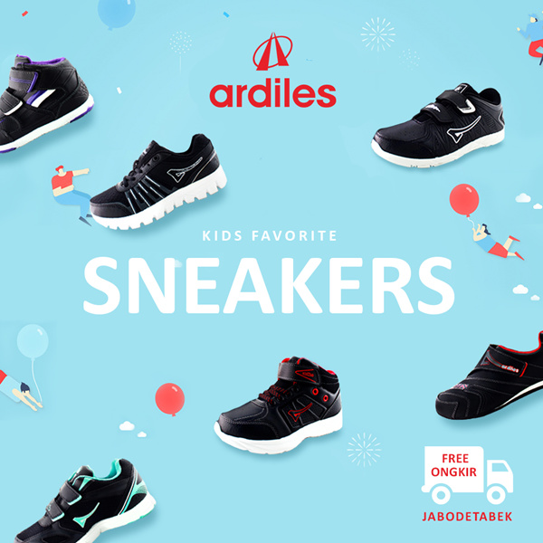 [FREE ONGKIR] ?ARDILES? Shoes Boys and Girls Special Launching Discount Promo | Back To School Deals for only Rp199.000 instead of Rp199.000