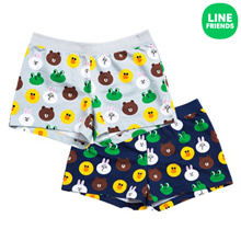 [LINE FRIENDS] 2016 S/S WOMENS 100% COTTON KNIT SHORTS_PAJAMA_FRIENDS