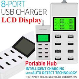 Universal 8/10 Port Travel Portable USB Hub Multi Port Rapid Adapter UK/EU/US Plug LCD