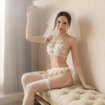 4b80ff111 Sheer sexy bridal underwear set perspective sexy lingerie bud silk yarn set  female a generation of