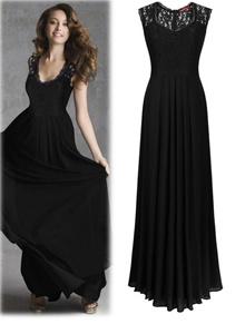 Plus Size S-2XL ~ FSH Euro Deep V Lace Luxury Dinner Dress