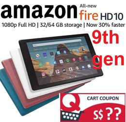 All-New Fire HD 10 Kindle Tablet with Alexa Ipad Alternative Hands-Free 10.1 1080p Full HD Display