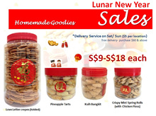 ★HOMEMADE CNY GOODIES/SNACKS★ PINEAPPLE TARTS/ LOVE LETTER/ MINI SPRING ROLLS TRADITIONAL RECIPE★