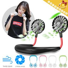 ▶Wearable Neck Band Fan-USB Rechageable n Portable◀mini portable fan-Cool Summer Fan-5 colors