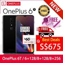 [FREE GIFTS] Oneplus 6T 256GB 128GB ROM 8GB 6GB RAM Local Seller with Warranty