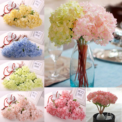 Qoo10 Artificial Fake Silk Flowers Hydrangea Bouquet Party Home