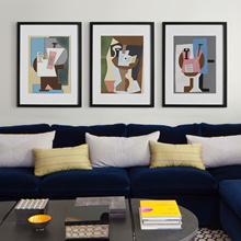 23&#39 POSTeRS Picasso sheet music violin guitar simple study abstract modern framed living room d