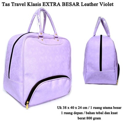 Tas Travel Klasis Extra Besar Leather