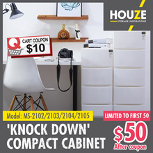 ONLINE EXCLUSIVE ♦ Sleek Design ♦ 2 - 5 Tier Knock Down Compact Cabinet ♦ Strong And Durable