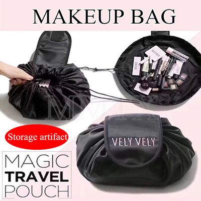 Korean Vely Make Up Bag Storage Artifact Roll N Go Cosmetic