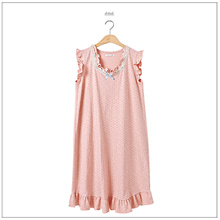 Women  lovely  Lunavi Dobby cotton One-piece /Home wear/High Quality/ Free Size/ Sleeve Round