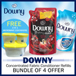 [Downy] FREE 3 in 1 Microwave Container / Bundle of 4 Refill Pack / Concentrated Fabric Conditioner
