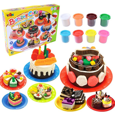 Qoo10 Children Diy Colorful Clay Making Birthday Cake Food