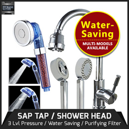 Water SAVING Tap  N SHOWER 3rd Gen / SAP Anion Shower Head Purifying Filter with 3 Adjustable Modes.
