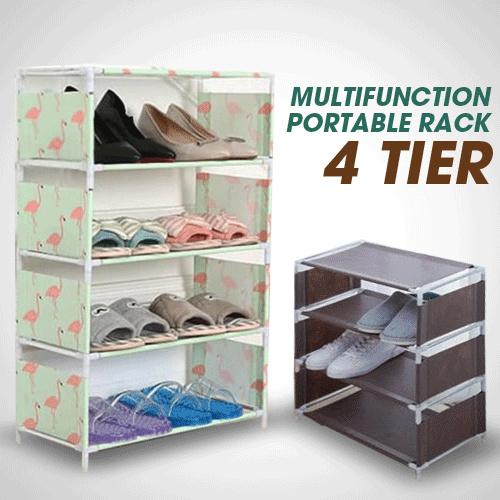 Rak Portable 4 Susun Untuk Sepatu / Sandal | Rack Tingkat Serbaguna | Rak Multifungsi Deals for only Rp59.000 instead of Rp77.632