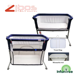 Zibos Anta Bedside Crib | Co-Sleeper | Convertible to Play Yard | Playyard | Playpen | Baby Bed