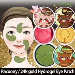 【Secret Key HQ Direct Operation】★Eye Masks★Gold&Pink&Marine Racoony / 24k gold Hydrogel Eye Patch