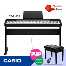 [Keyboard and Piano Sale!] Casio CDP-135 Contemporary Digital Piano | Music Keyboard |