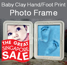 Baby Hand Foot Prints Clay Photo Frame ★ DIY Baby Handprint Footprints ★ Good Gift Idea